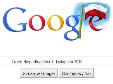 Obrazek Google w dniu Niepodległości Najjaśniejszej Rzeczpospolitej
